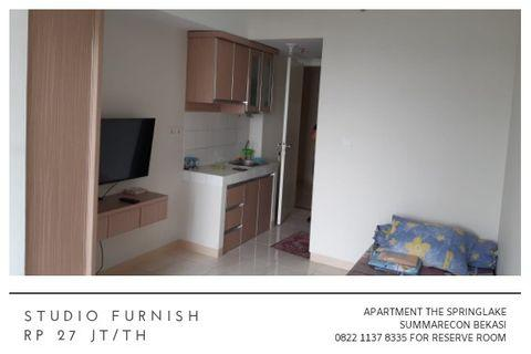 Studio Furnish Apartment The Springlake Summarecon Bekasi 27 jt/th