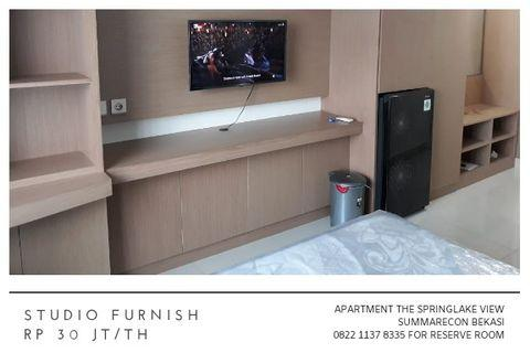 Studio Furnish Apartment The Springlake View Summarecon Bekasi 30 jt/th