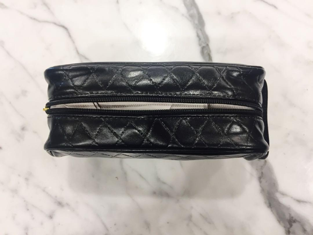 BRAND NEW URBAN OUTFITTERS BLACK LEATHER MAKEUP BAG