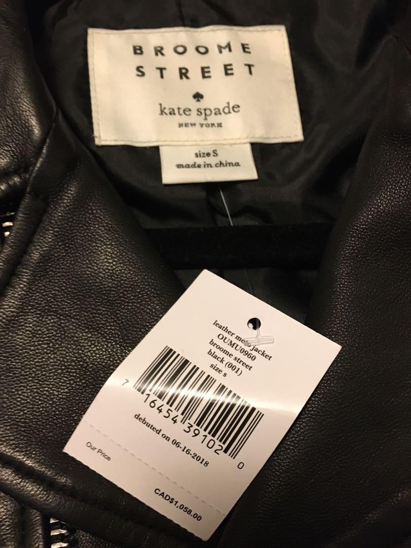BRAND NEW WITH TAGS KATE SPADE MOTO LEATHER JACKET