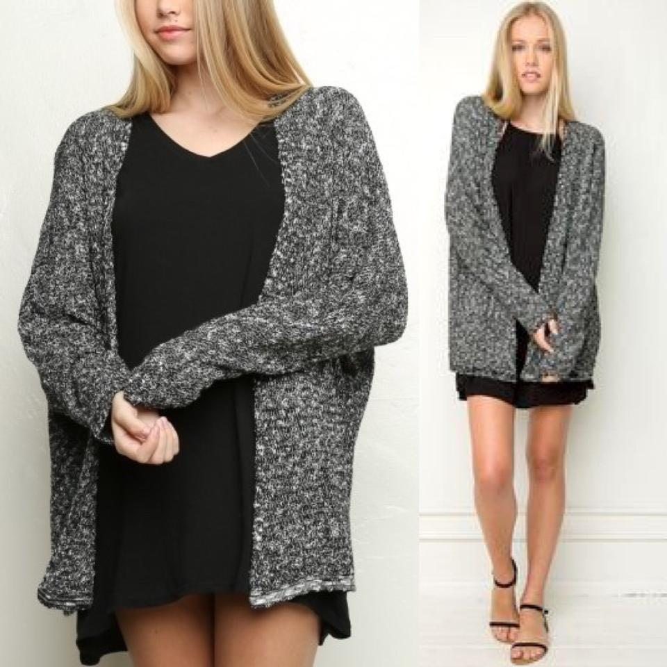 Brandy Melville 🌸 Salt and Pepper Cardigan ONE SIZE