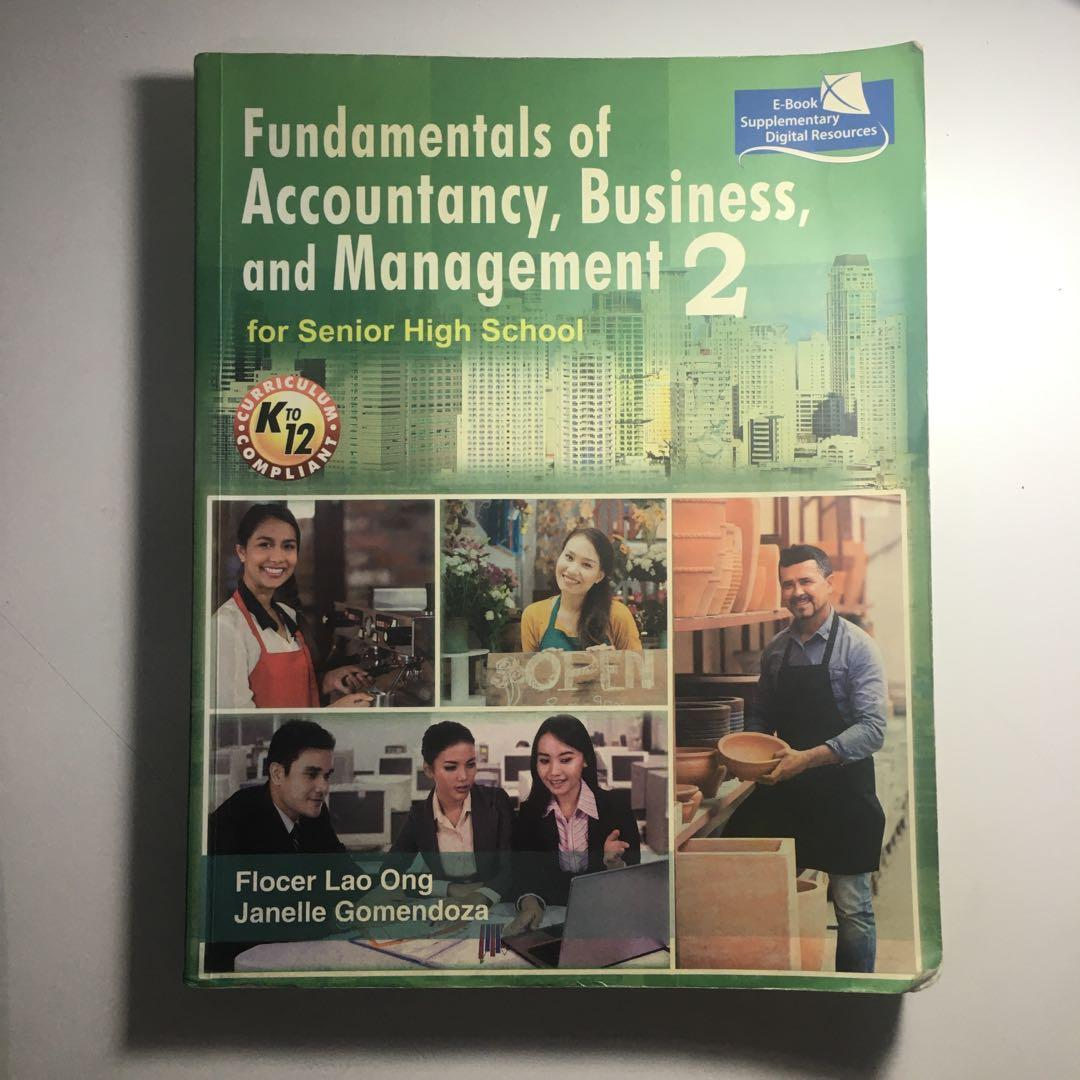 Fundamentals of Accountancy, Business, and Management 2 for Senior High School