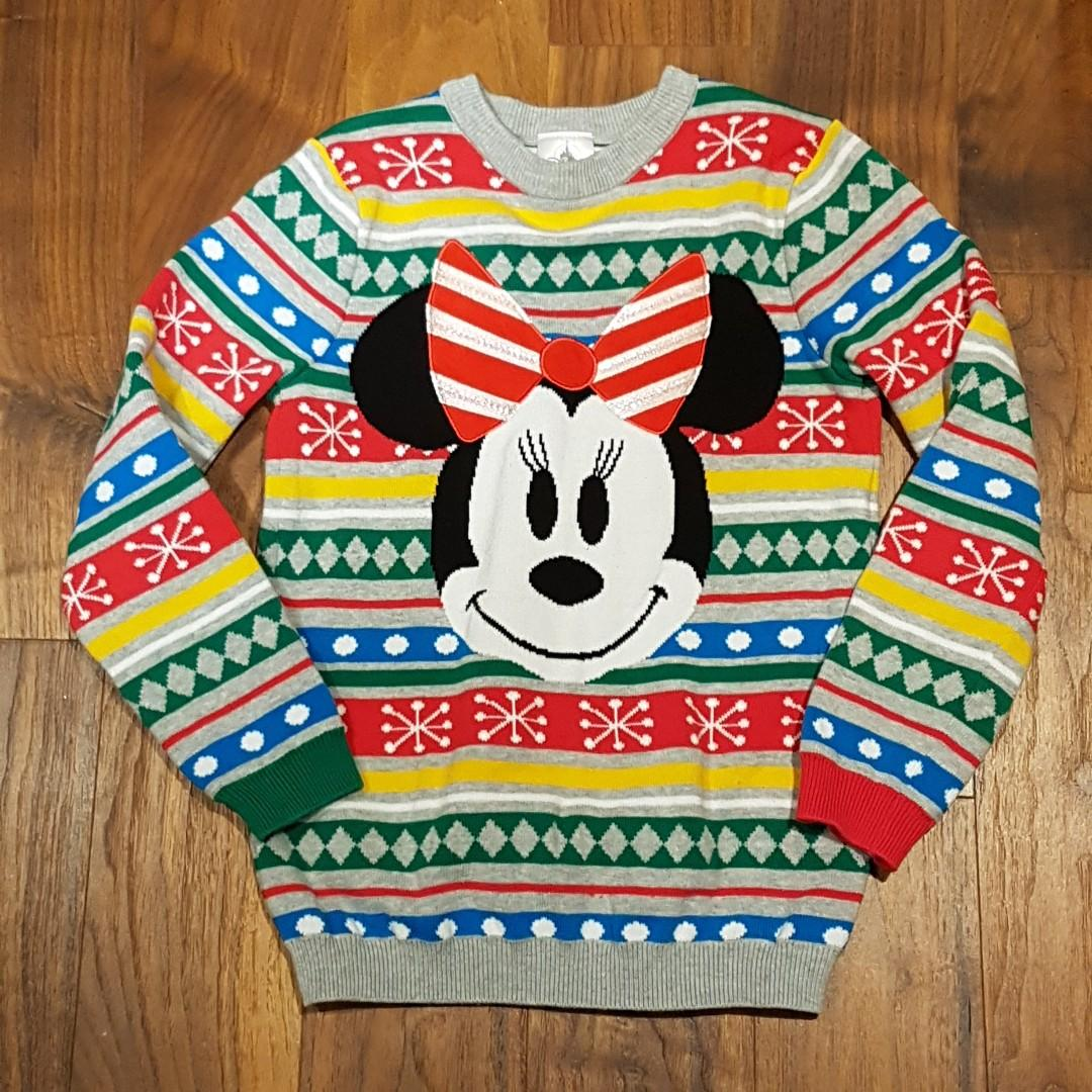 Minnie Mouse Children's Christmas Sweater - Size 7/8