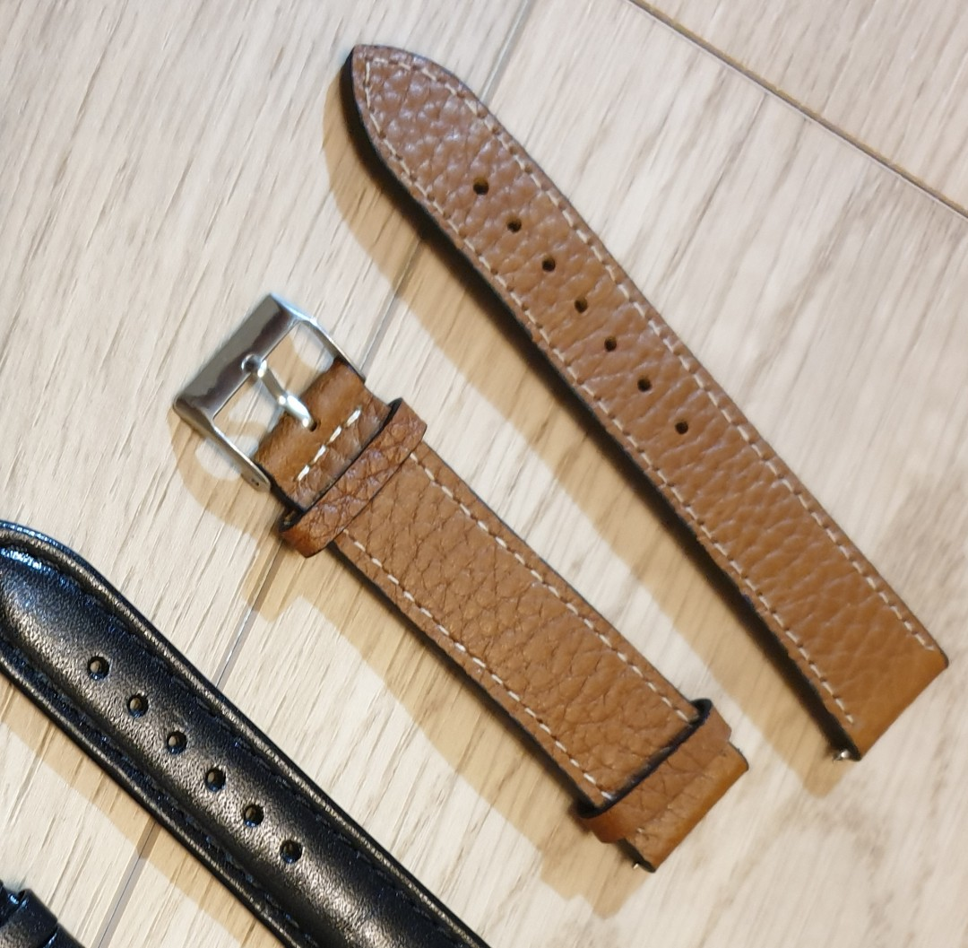 mint condition 20mm leather Watch Strap quick release. can foc normal post or top up for smartpac. photo shown strapped on the sinn 104.