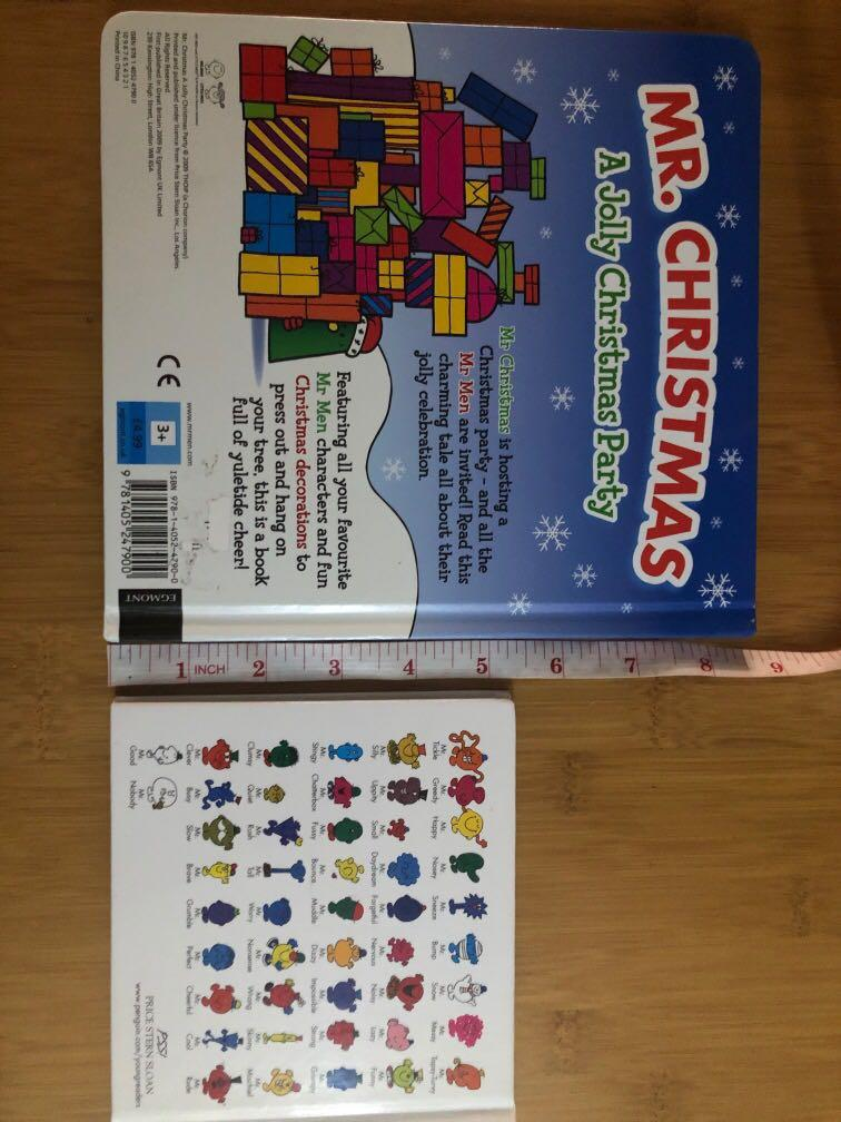 Mr Tickle + Mr Christmas (collector item) -Mr Men & Little Miss series