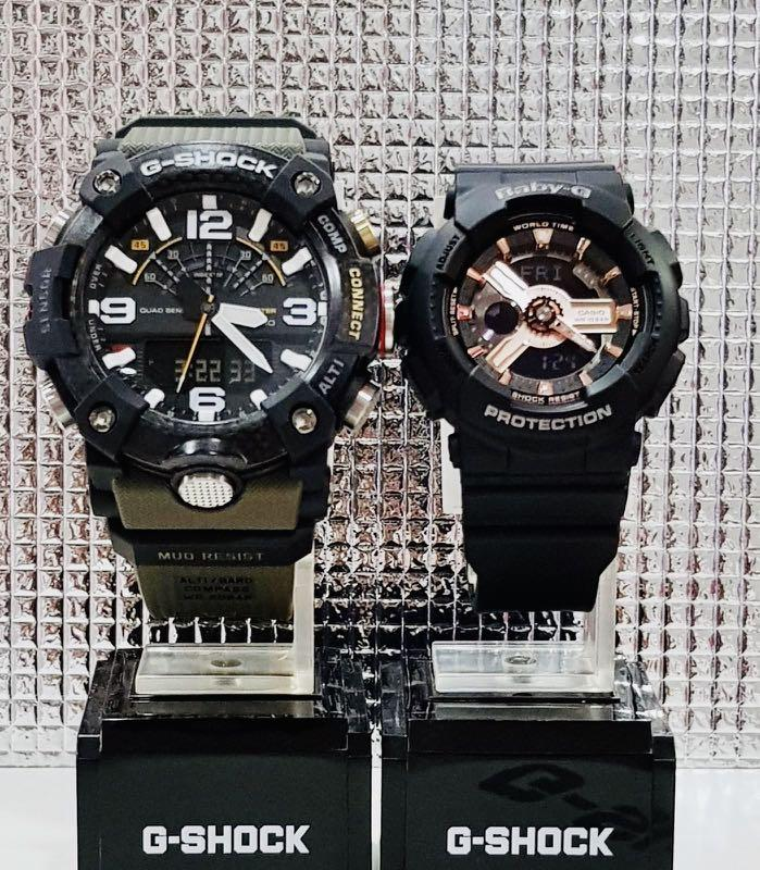 NEW🌟BLUETOOTH COUPLE💝SET : BABYG🌟GSHOCK UNISEX DIVER SPORTS WATCH  : 100% ORIGINAL AUTHENTIC CASIO BABY-G-SHOCK : BA-110RG-1A + GG-B100-1A3 / GG-1000-1A3