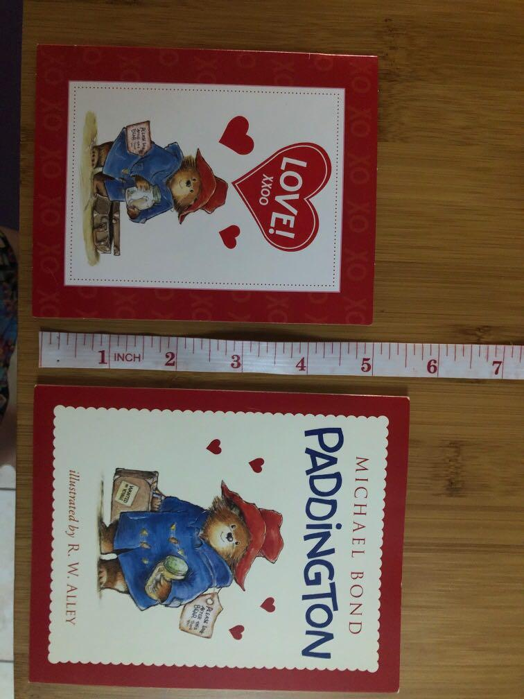 Paddington Bear story book by Happy Meal + Valentines Day card