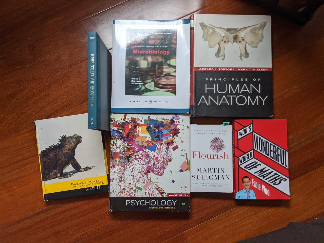 Psychology/Biology Textbooks and Non fiction Books