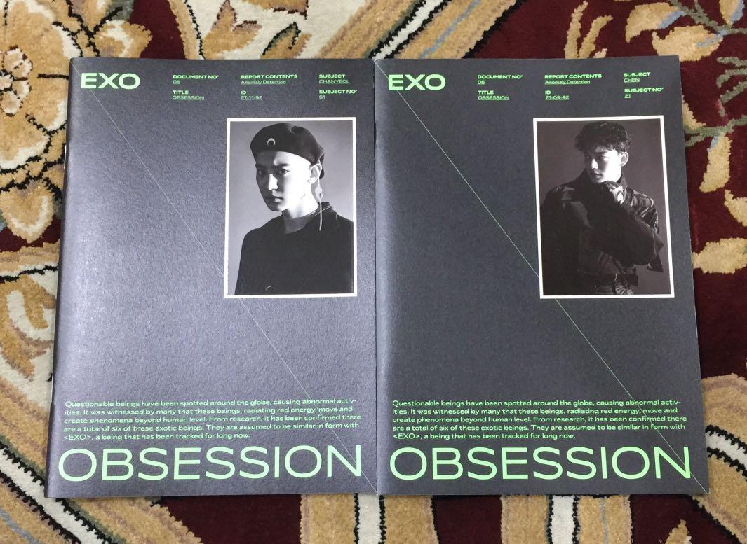 [READYSTOCK] EXO - OBSESSION EXO VERSION Loose Set