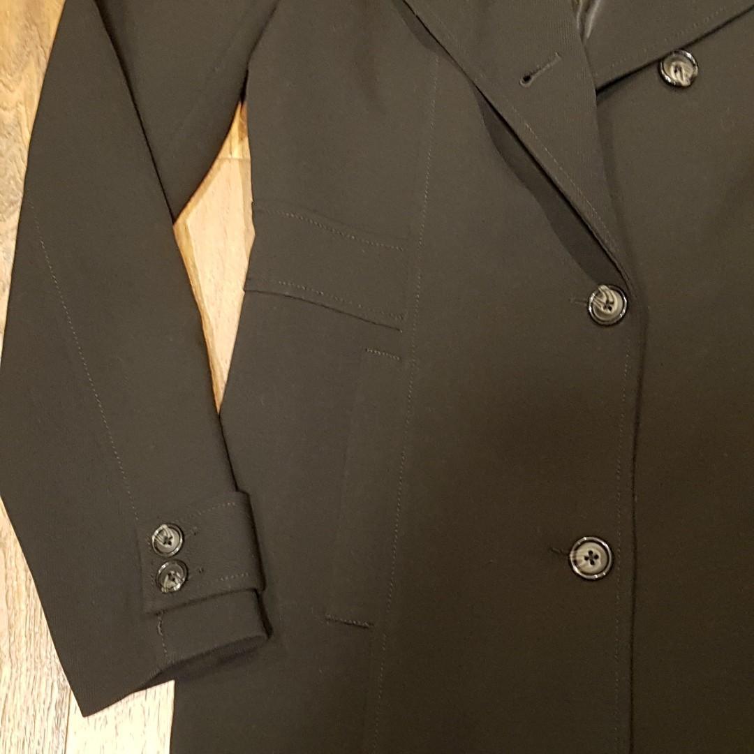 RW&Co Women's Black 3/4 Length Trenchcoat Jacket - Size Small