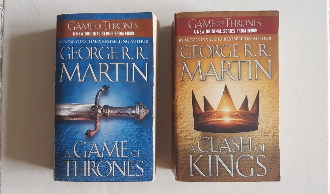 SALE: A Game of Thrones and A Clash of Kings by George RR Martin Books