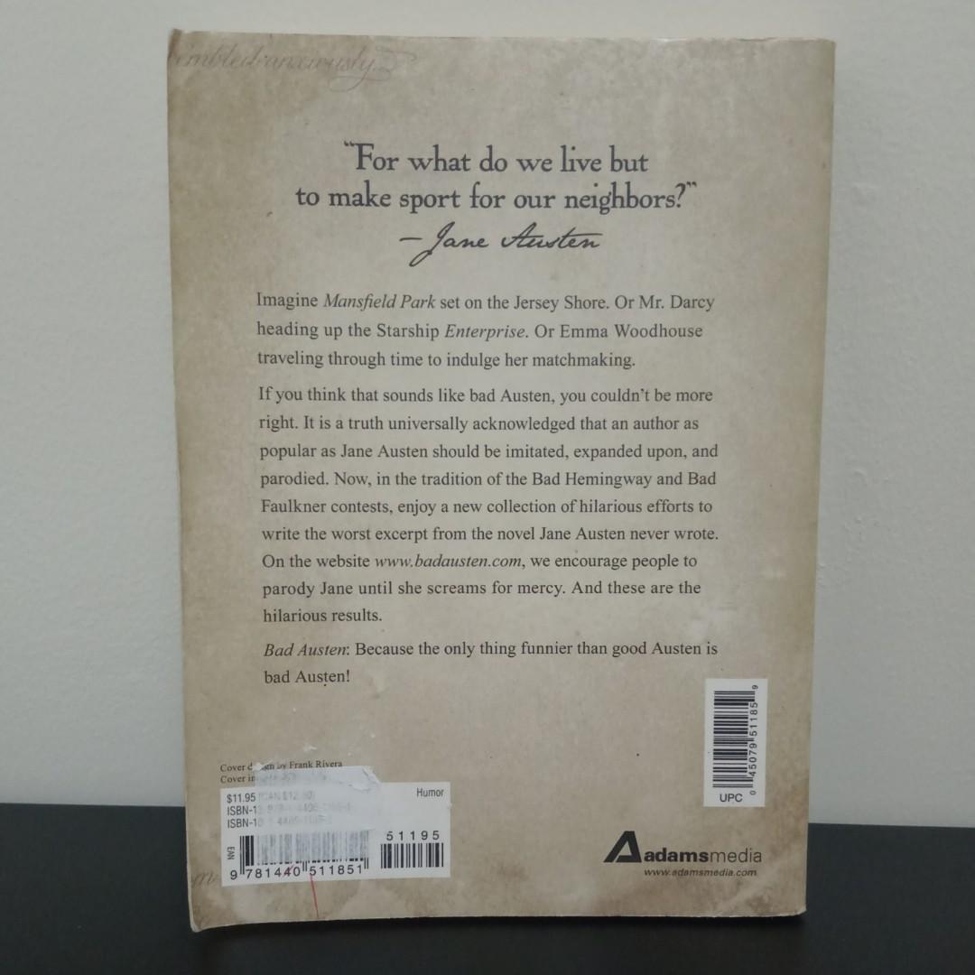 SALE!!! Bad Austen: The Worst Stories Jane Never Wrote Preloved book