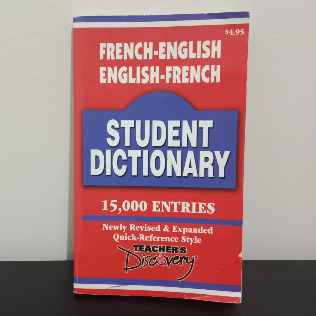 SALE!!! Teacher's Discovery French - English Student Dictionary Preloved