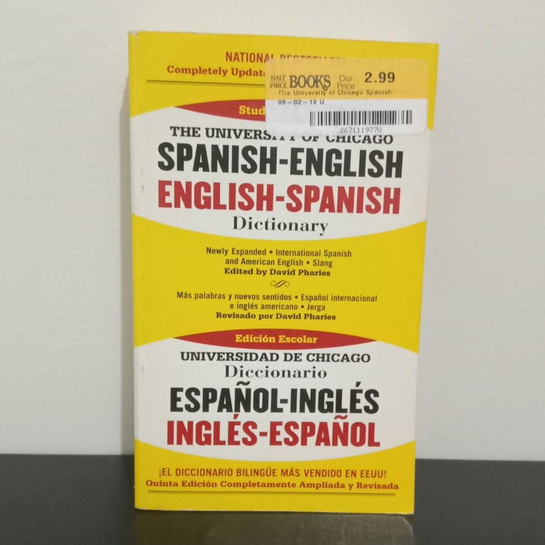 SALE!!! The University of Chicago Spanish - English Dictionary