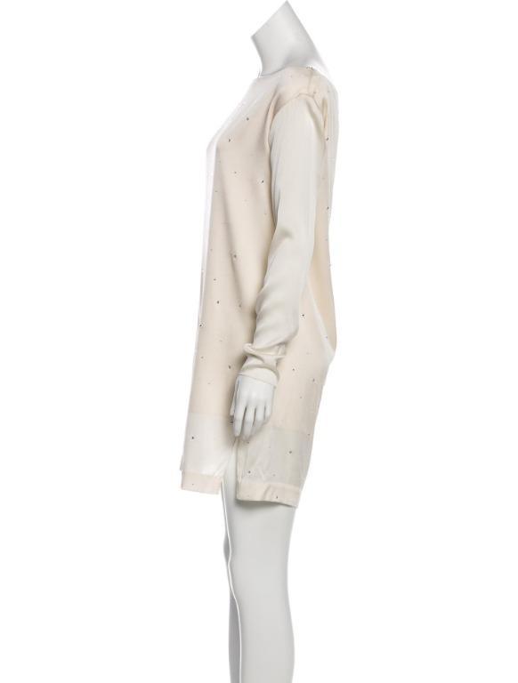 THOMAS WYLDE Silk-Blend Embellished Dress (Est Value $1,350)