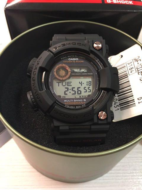 100% Authentic rare Limited Edition and very rare Casio Black Rose Gold Frogman GWF-1000B-1 Watch