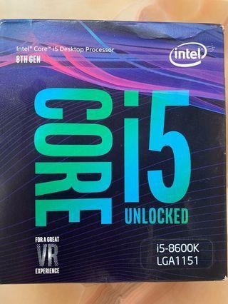Intel cpu i5 8600K/品項良好/含盒裝/保固內/高雄可面交