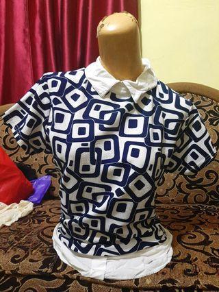 #makinhoki blouse kotak dongker