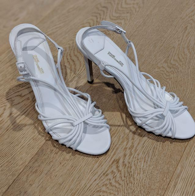 As new - Diane Von Furstenberg leather heels - size 37.5