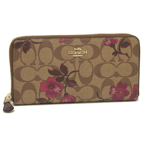 Authentic Limited Edition Coach F87716 Zip Wallet with Victorian Floral Print
