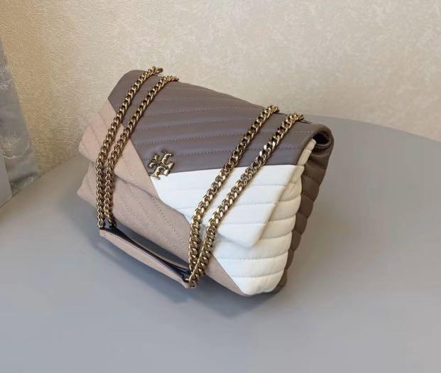 Authentic Tory women Kira chevron  bag crossbody sling bag in chain mix material
