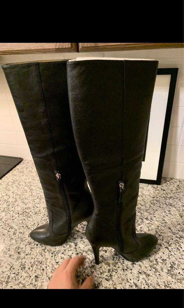 Brand New Beautiful Nine West Black Boots, Size 7.5, 2 inch heel