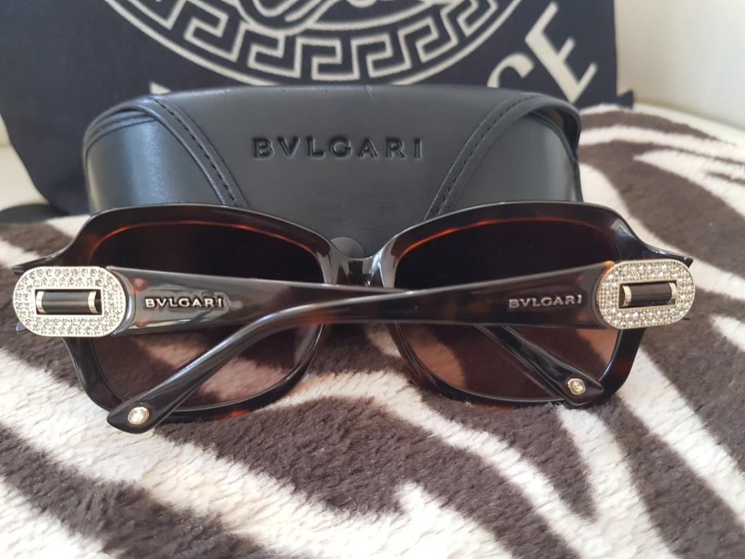 Bvlgari sunglasses authentic Swarovsky  crystal sides
