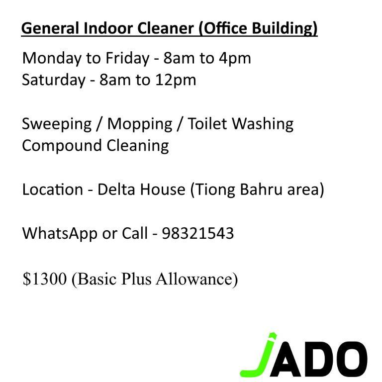 General Indoor Cleaner (up to $1600)