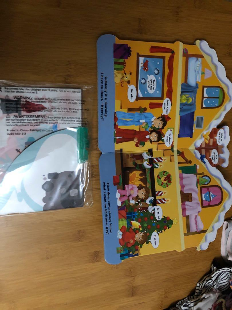 Holly Jolly Christmas board book + Wendy's create your adventure kit