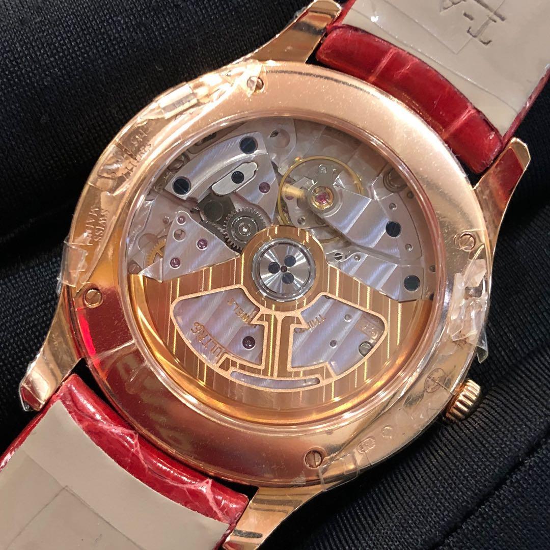 JAEGER LECOULTRE Master Ultra Thin 34mm  Moon 18K Rose Gold Diamond Ladies Watch