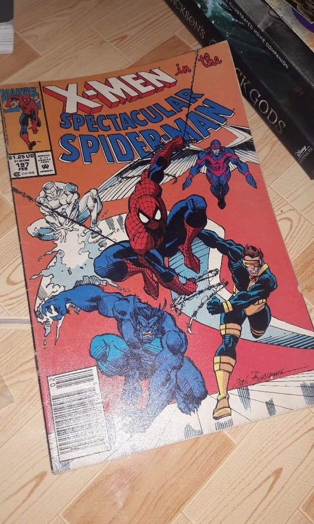 "MARVEL The Spectacular Spider-Man #197: Guest Starring the X-Men in ""Power Play"" (Marvel Comics) by J.M. DeMatteis 1993"