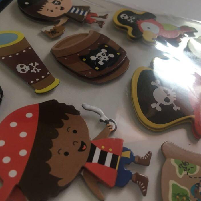 NEW 3D Pop-Up Stickers - Pirates - Kids Scrapbooking Planners Crafts