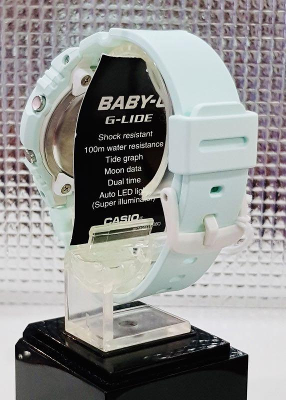 NEW🌟BABYG UNISEX SPORTS WATCH : 100% ORIGINAL AUTHENTIC CASIO BABY-G-SHOCK : BAX-100-3ADR  / BAX-100-3A / BAX100-3A (Peppermint Green)