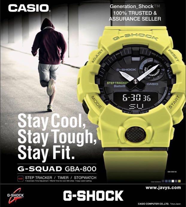 NEW🌟BLUETOOTH GSHOCK UNISEX DIVER SPORTS WATCH : 100% ORIGINAL AUTHENTIC  CASIO G-SHOCK : GBA-800 (NEW SERIES)