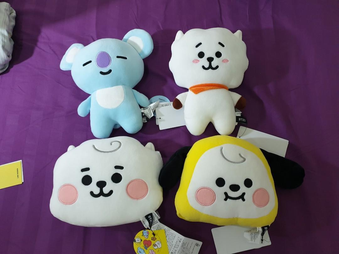 Official BT21 cushion plush doll bts koya flat body cushion