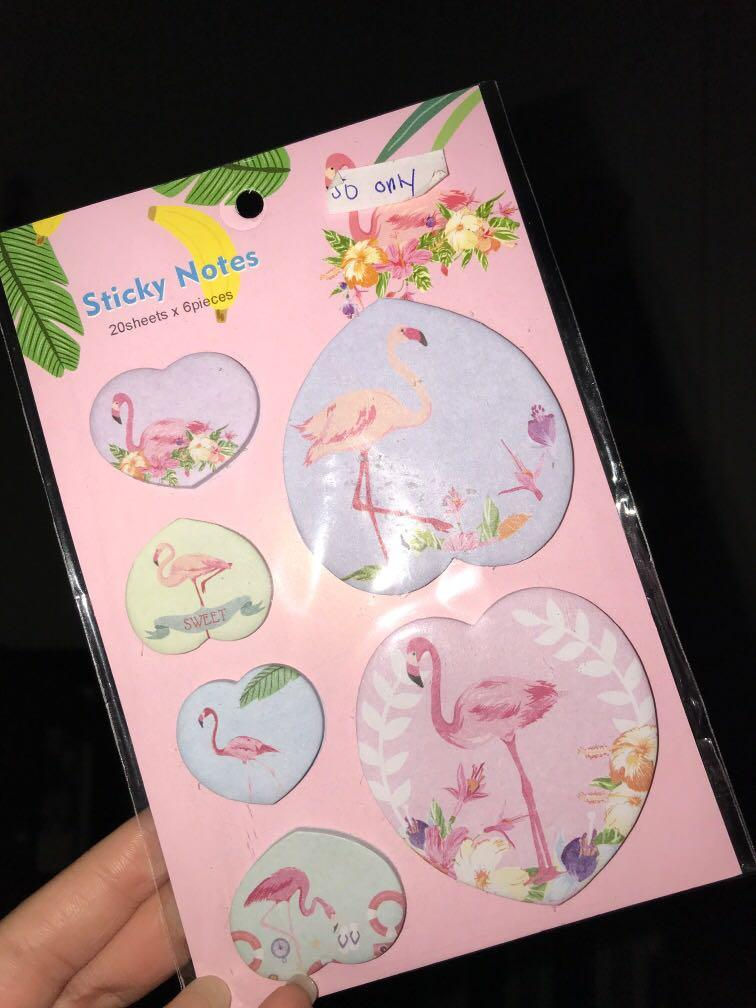 Swan Emoji Sticky notes office supplies work school  clearance sale