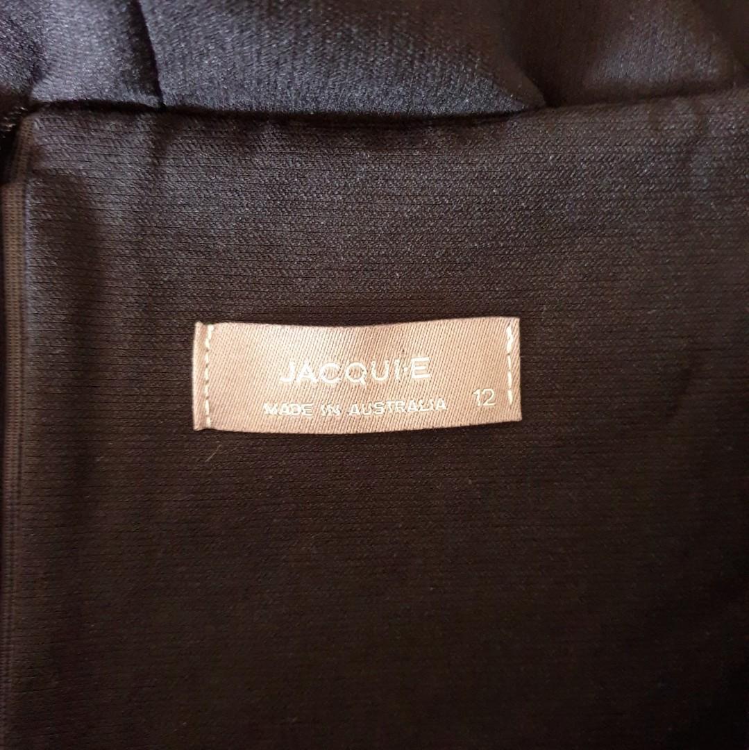 Women's size 12 'JACQUI E' Gorgeous black pencil midi skirt officewear- AS NEW