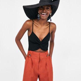 Zara twist front crop top