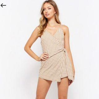 Gingham romper size small