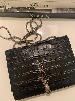 YSL Saint Laurent inspired Kate bag in croc