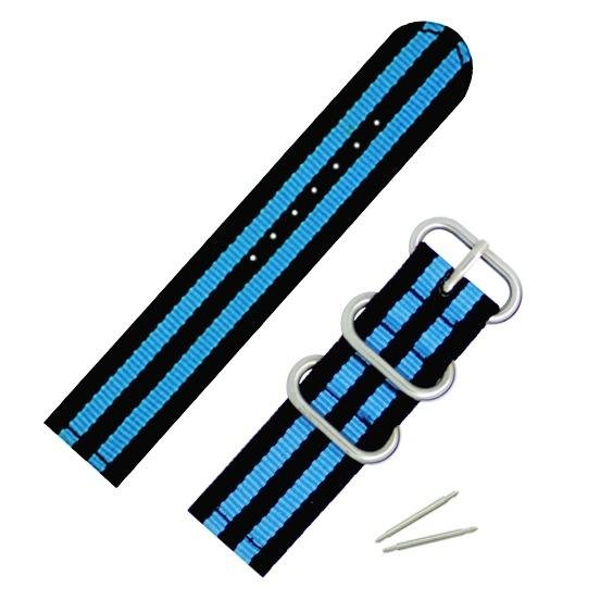 22mm Nato Sports Nylon Fabric Extra Thick Watch Band Strap With Fine Stitches