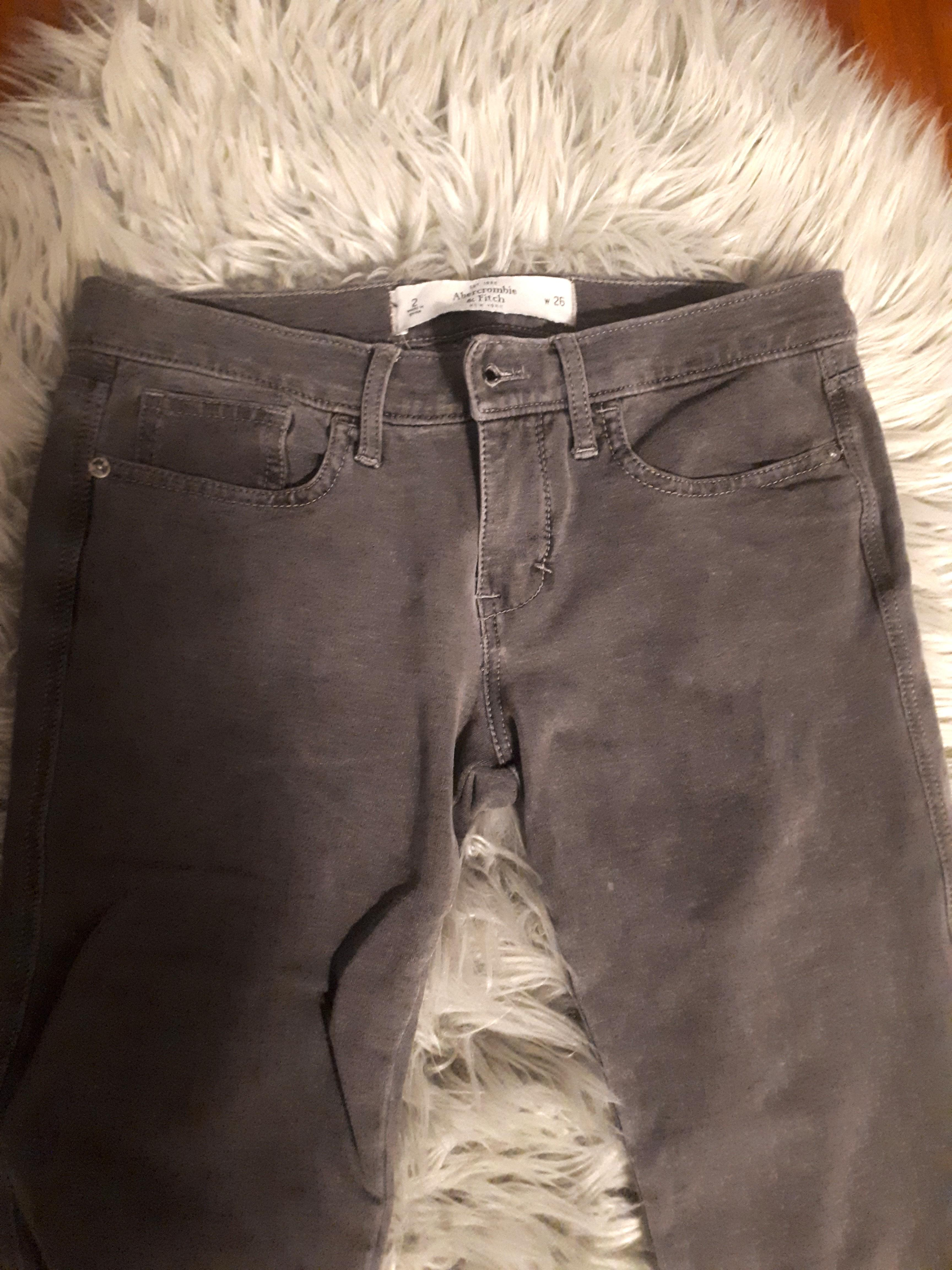 Abercrombie & Fitch: Perfect Stretch Grey Skinny Jeans/Jeggings