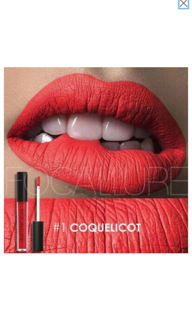 Brand new! Focallure waterproof matte liquid lipstick- #1 Coquelicot