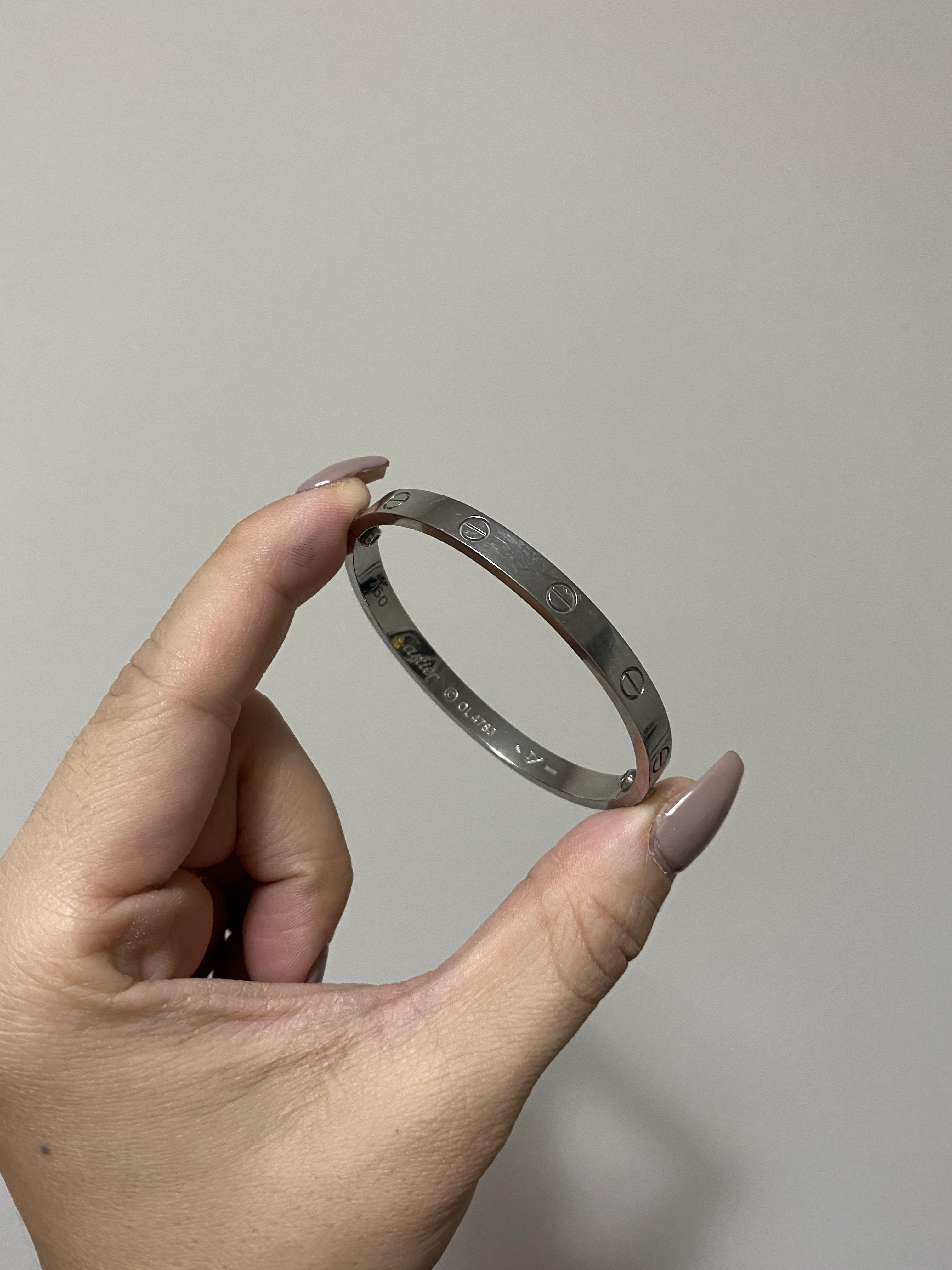 Cartier Sterling Silver LOVE bracelet (FOR SMALL WRISTS)