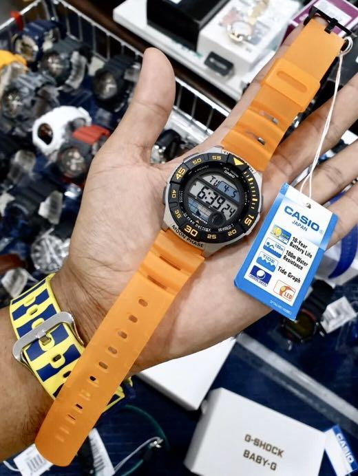 NEW🌟TOUGH CASIO UNISEX SPORTS WATCH : 100% ORIGINAL AUTHENTIC : By BABY-G-SHOCK ( GSHOCK ) COMPANY : WS-1100H-4AVDF (SEA-CORAL ORANGE)