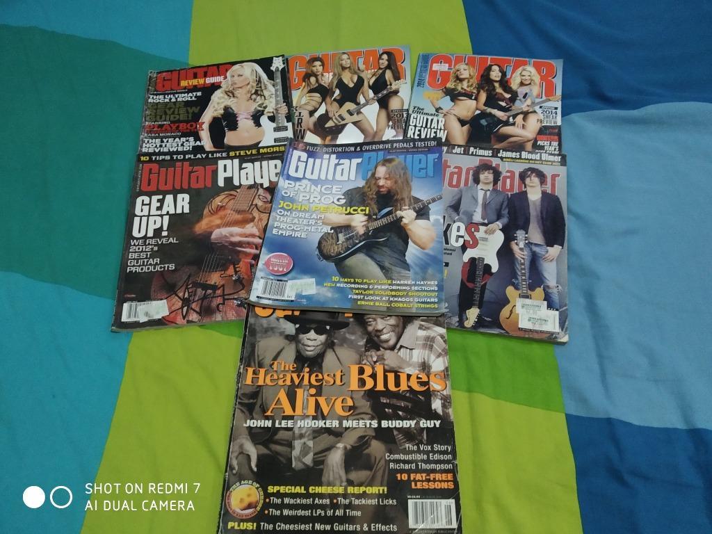 REPRICED - 58pcs Guitar World Player Total Guitar Guitarist Magazines MEGA BUNDLE + dvd