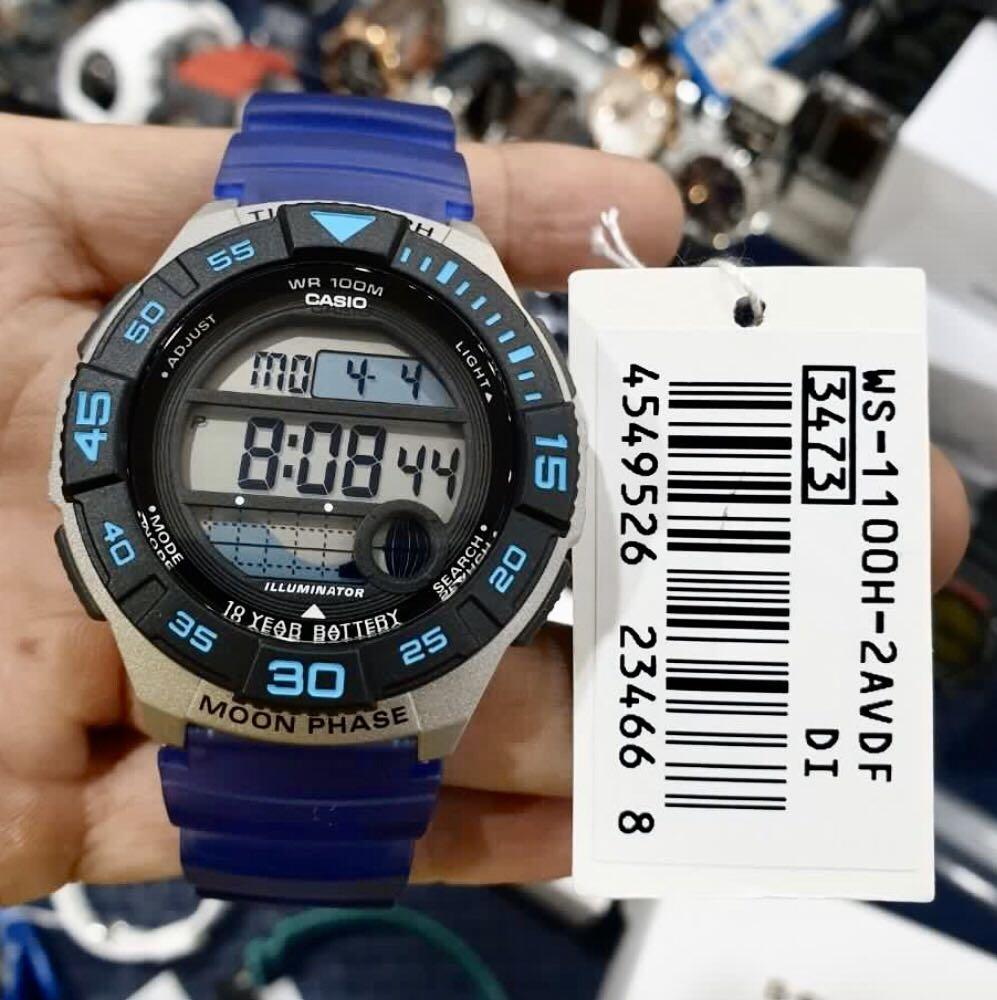 NEW🌟TOUGH CASIO UNISEX SPORTS WATCH : 100% ORIGINAL AUTHENTIC : By BABY-G-SHOCK ( GSHOCK ) COMPANY : WS-1100H-2AVDF (OCEAN-BLUE)