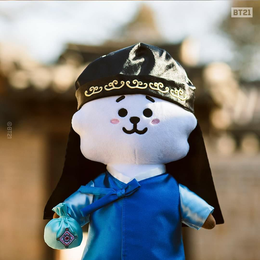 (PO) Official BTS BT21 Standing Doll (Hanbok Ver.)