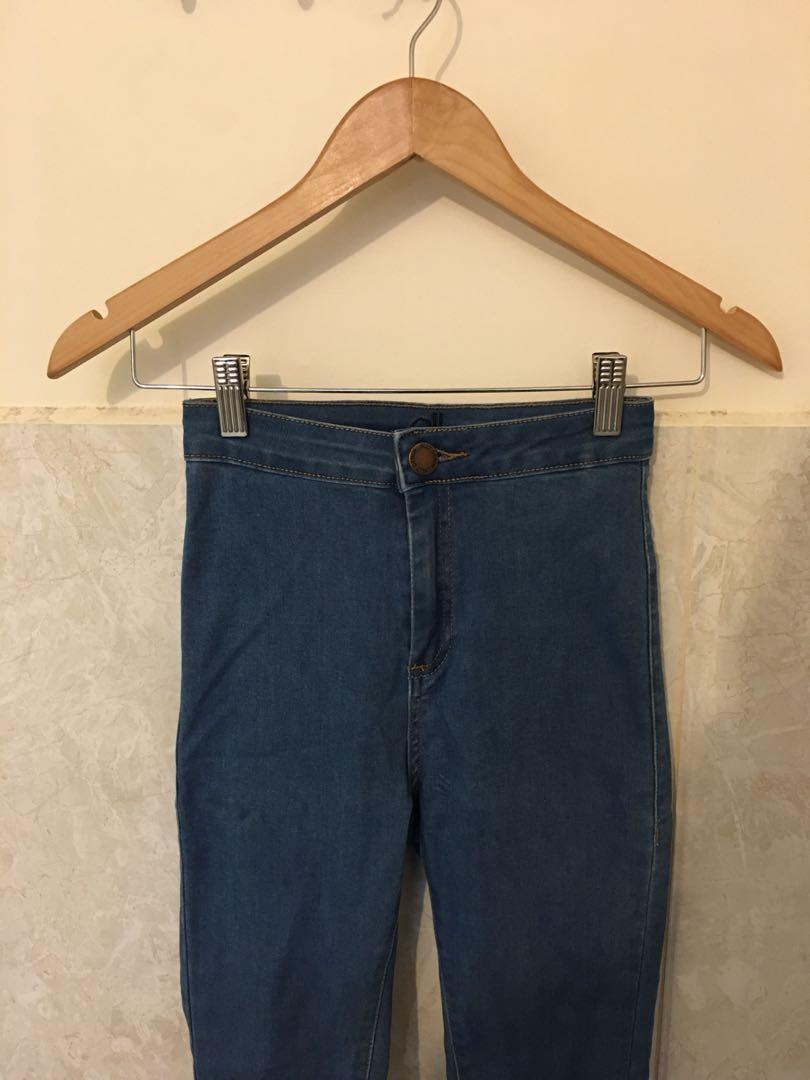RRP $35 Ally Fashion High-Waisted Stretch Skinny Jeans / Size 8