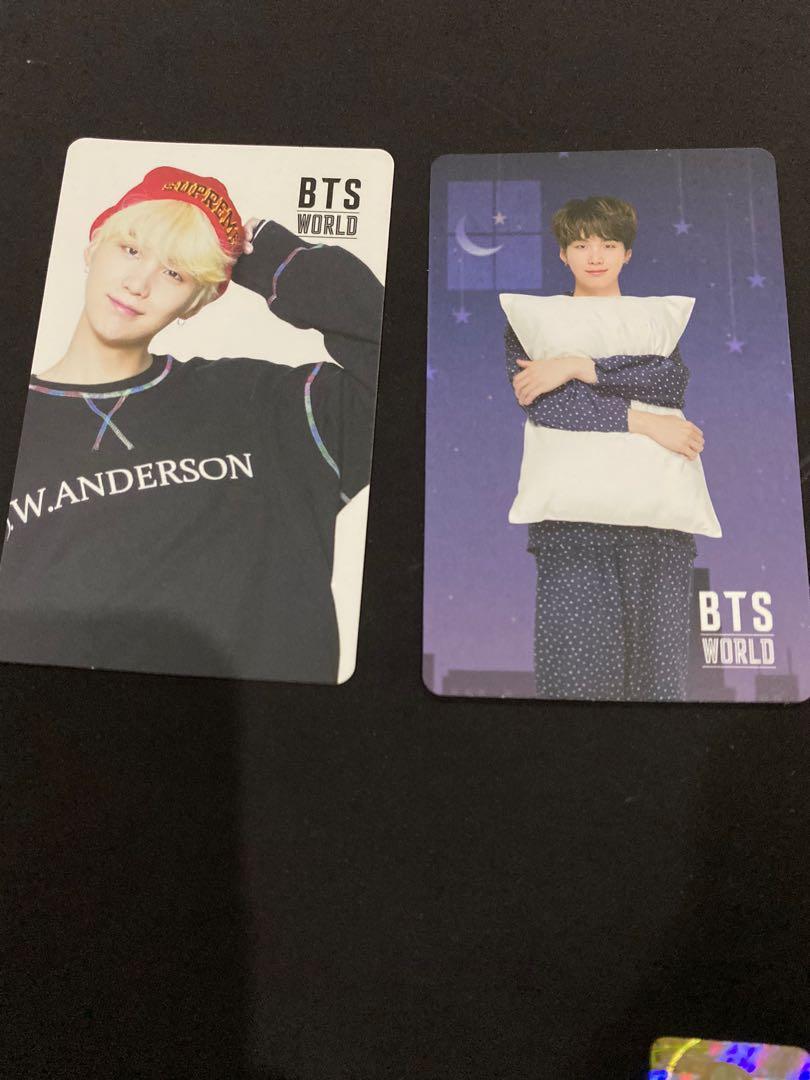 Suga / yoongi official photocard / game coupon bts world